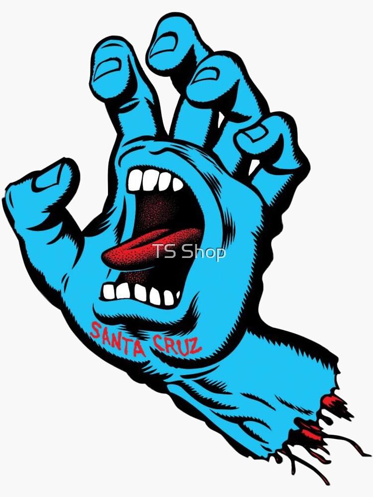 Santa cruz hand sticker by Tanisha15