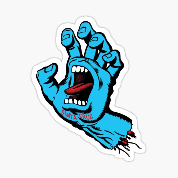 Santa cruz hand sticker Sticker