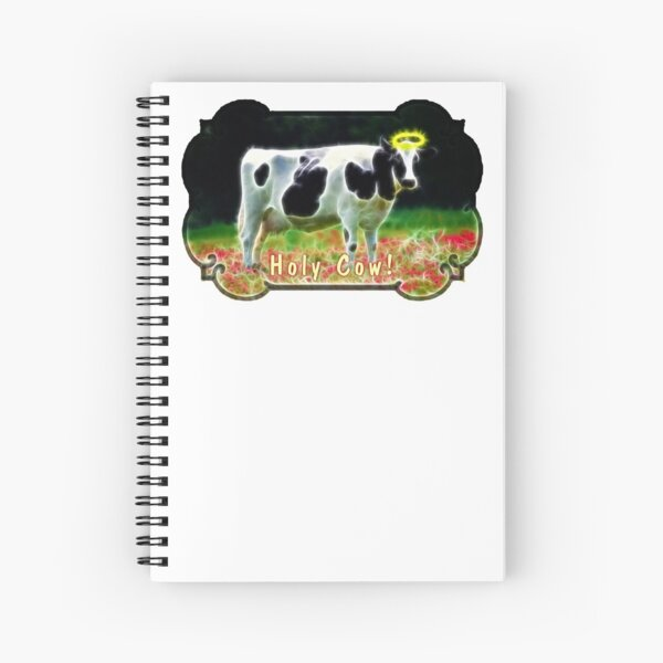 Funny Holy Cow Angel Holstein Animal Humor Spiral Notebook
