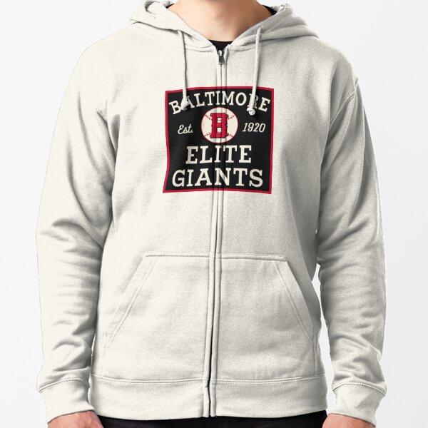 Baltimore Elite Giants- Vintage Negro Baseball League  Zipped Hoodie