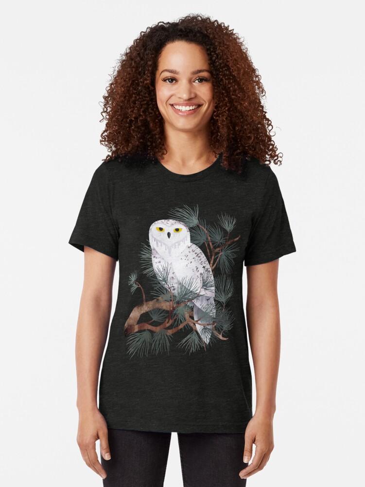 Alternate view of Snowy Tri-blend T-Shirt
