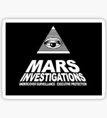 Mars Investigations Sticker