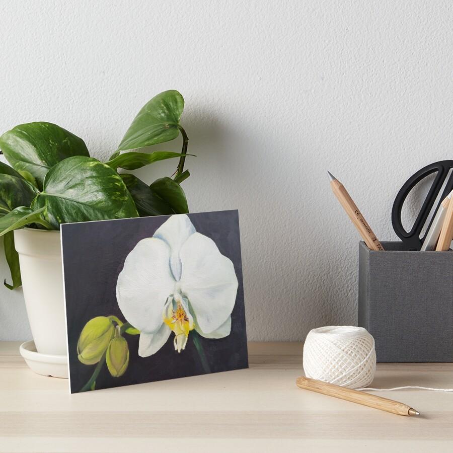 Phaelenopsis - moth orchid painting Art Board Print