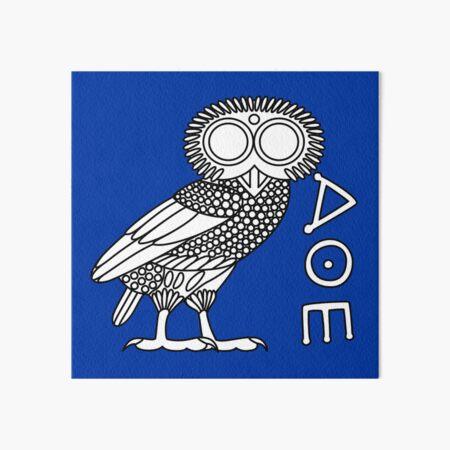 Owl of Athena [White + Ethnicon] Art Board Print
