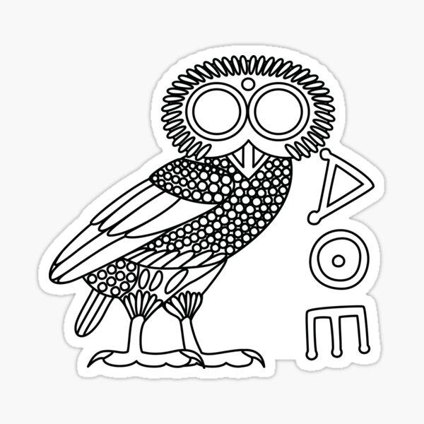 Owl of Athena [White + Ethnicon] Sticker