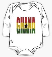 Ghana + flag One Piece - Long Sleeve