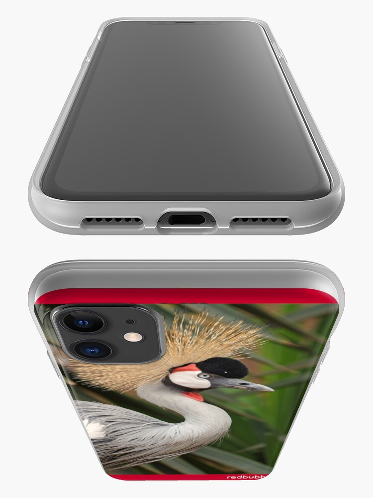 Alternate view of Grey Crested Crane iPhone cover iPhone Case & Cover