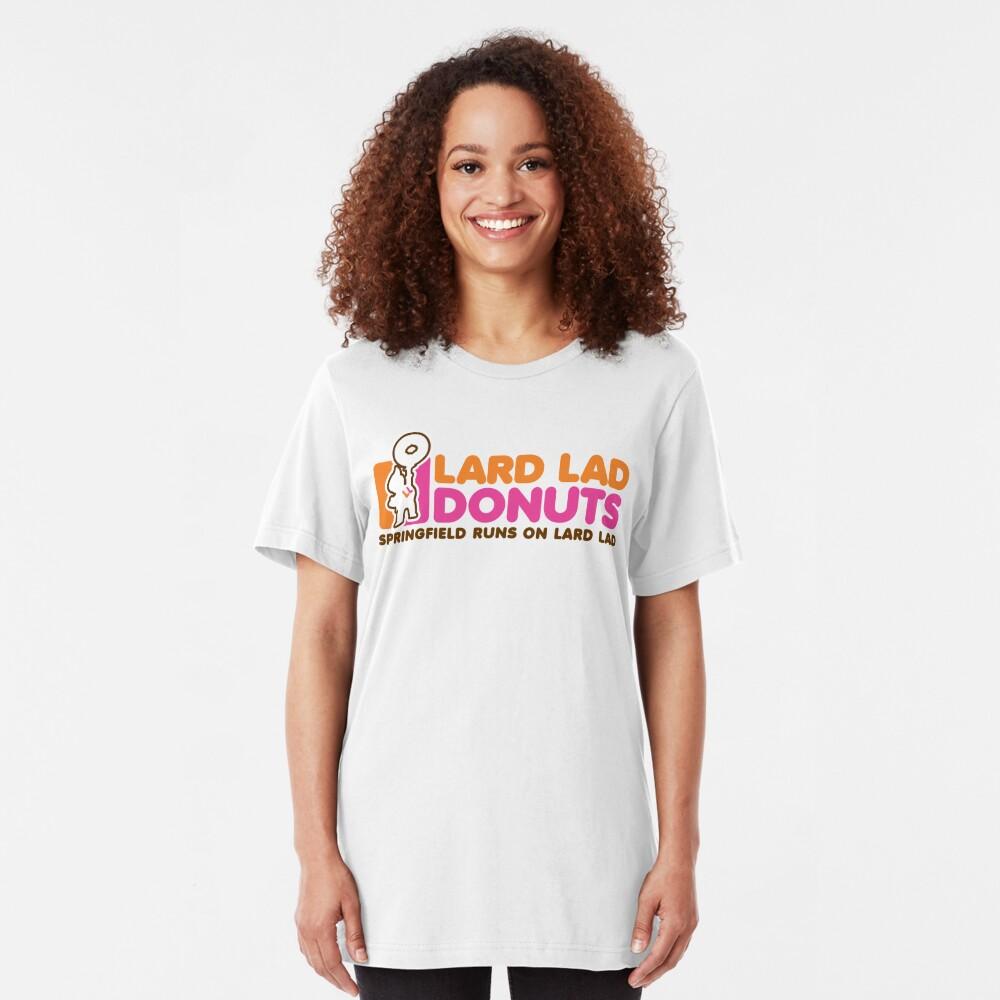 Lard Lad Donuts Slim Fit T-Shirt