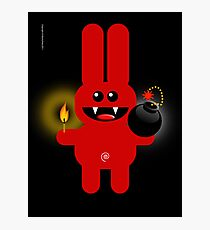 RABBIT 4  (Cute pet has a bomb and its alight!) Photographic Print