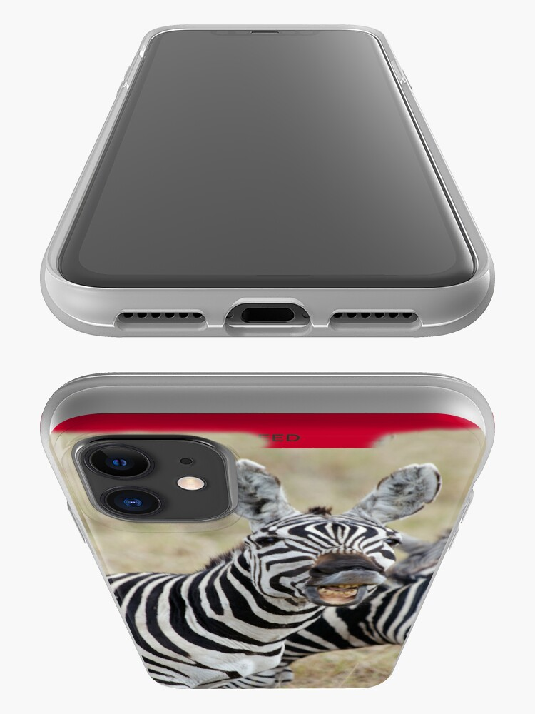 Alternate view of Laughing Zebra iPhone cover iPhone Case & Cover