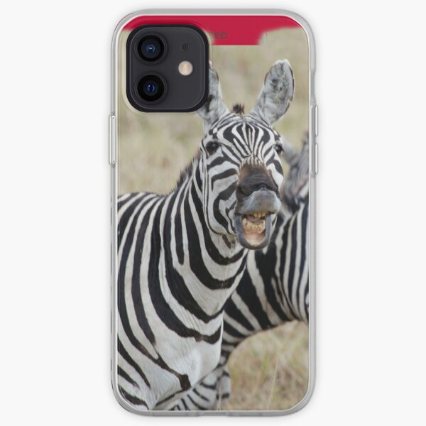 Laughing Zebra iPhone cover iPhone Soft Case