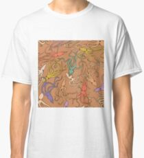 Squids of the Inky sea - retro colorway Classic T-Shirt