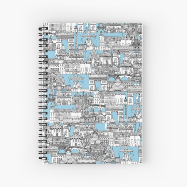Paris toile cornflower blue Cuaderno de espiral