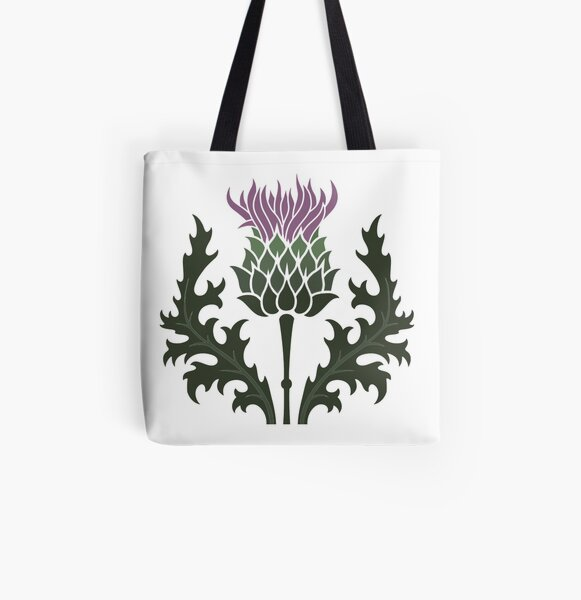 Scottish Thistle Flower of Scotland All Over Print Tote Bag