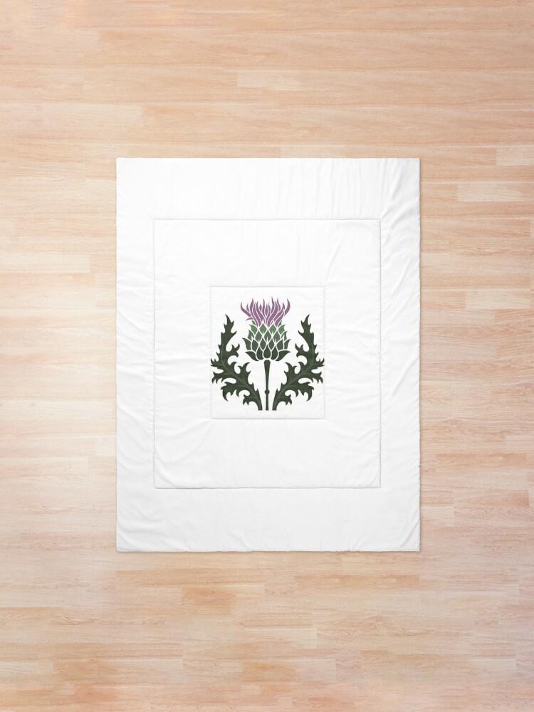 Alternate view of Scottish Thistle Flower of Scotland Comforter