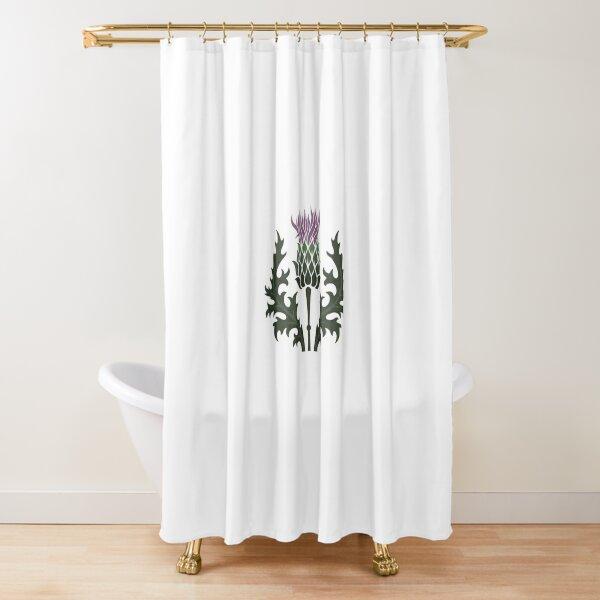 Scottish Thistle Flower of Scotland Shower Curtain