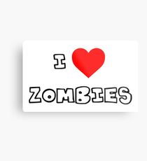 I Heart Zombies Metal Print