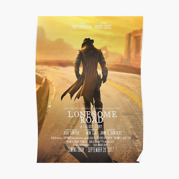 Fallout New Vegas: Lonesome Road Movie Style Poster