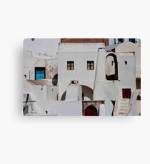 Santorini Streetscape Canvas Print
