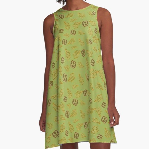 ADINKRA Fern and Link | Sage Green A-Line Dress