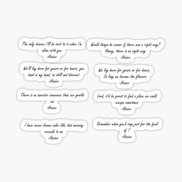 Hozier Lyrics Sticker