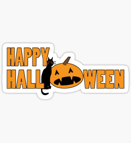 happy halloween t Sticker