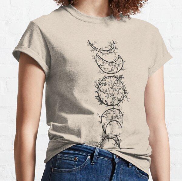 Mujer Ciclo lunar Fase lunar Ocultismo Tarot Blackcraft Camiseta Cuello V