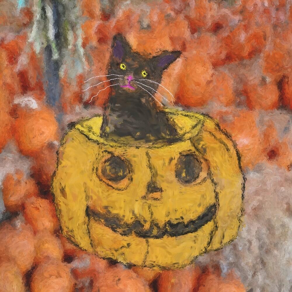 Harvest Cat by DoArtGallery