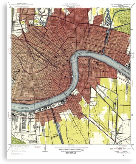 Map of New Orleans Louisiana by parmarmedia