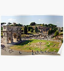 Arch Of Titus and the Roman Forum Poster