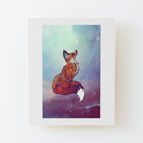 Space Fox Wood Mounted Print