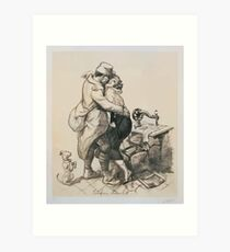 Adolphe Willette Alone at last2 Art Print