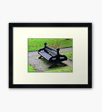 A Lonely Bench Framed Print