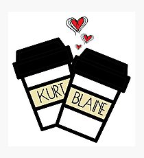 Klaine cups Photographic Print
