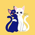 Grumpy Sailor Cats by Okida