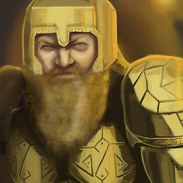 Dwarven Warrior by georgiagoddard
