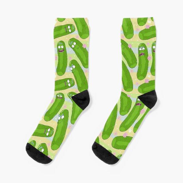 Pickle Rick Pattern Socks