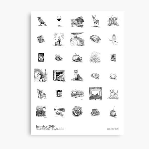 Inktober 2019 Poster Metal Print