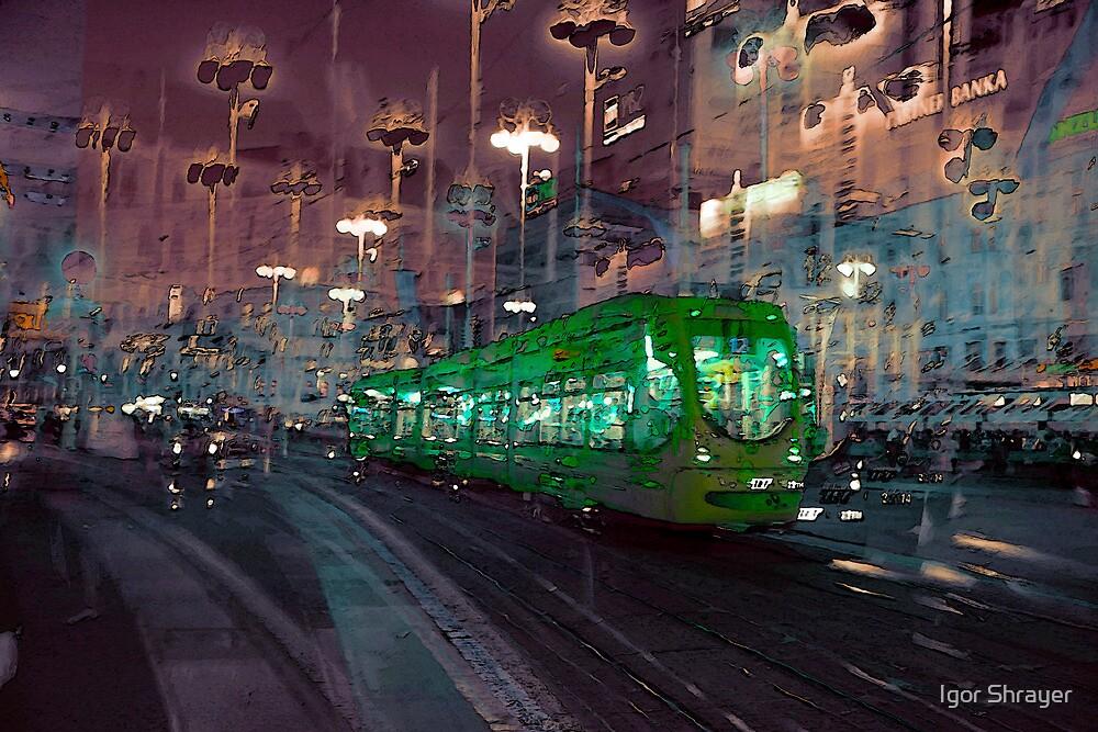 The Essence of Croatia - Zagreb Night Tram by Igor Shrayer