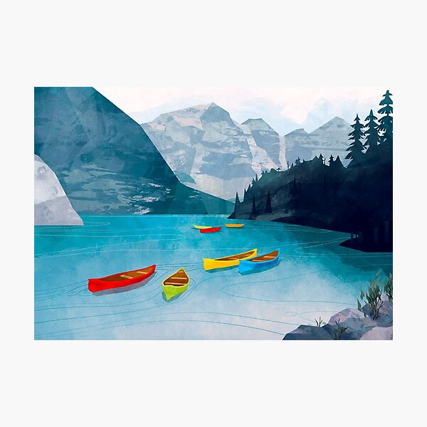 Canadian Canoes Photographic Print