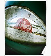 Retro Parking Meter 02 Poster