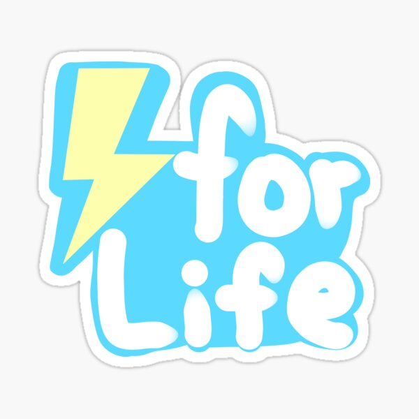 Electric types for Life! Sticker