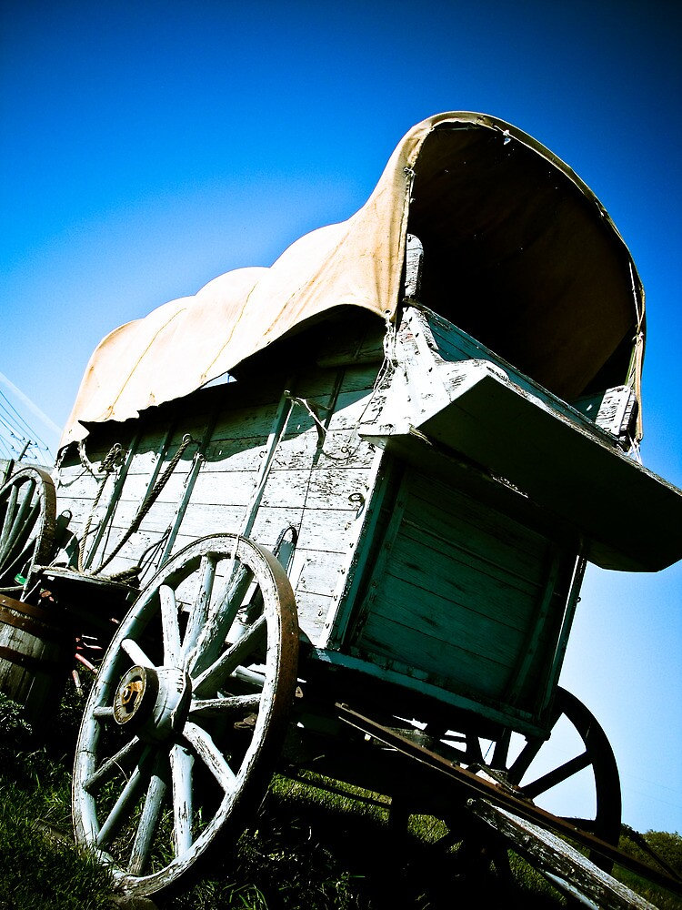Old West Covered Wagon 06 by mdkgraphics
