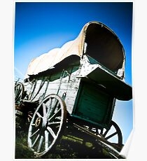 Old West Covered Wagon 06 Poster
