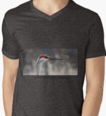 Crane Head Mens V-Neck T-Shirt