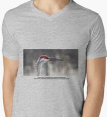 Crane Head Men's V-Neck T-Shirt