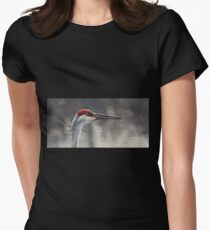 Crane Head Womens Fitted T-Shirt
