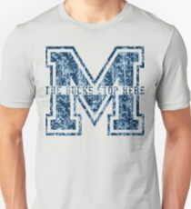 M - The Bucks Stop Here - Blue Vintage T-Shirt