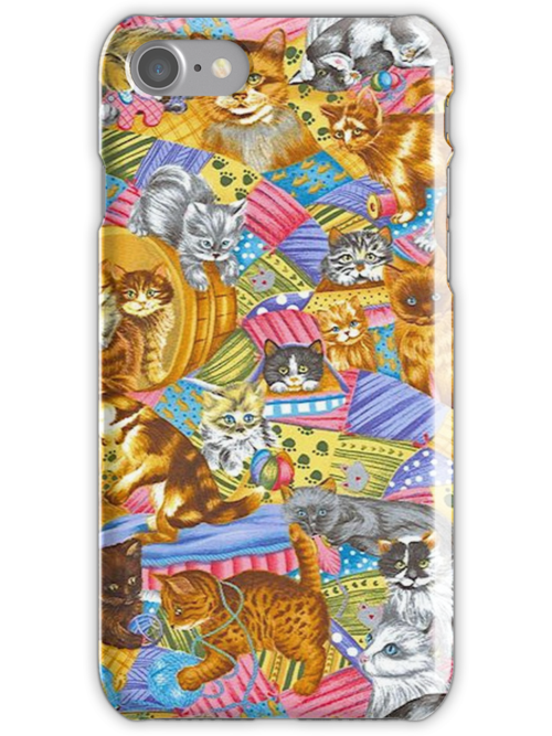 Day Dreaming Cats iPhone 4 Case by purplesensation
