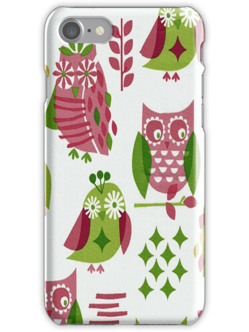 Colorful Owls iPhone 4 & 4s Case by purplesensation
